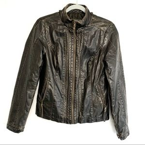 Big Chill Vintage Faux Leather Motorcycle Jacket